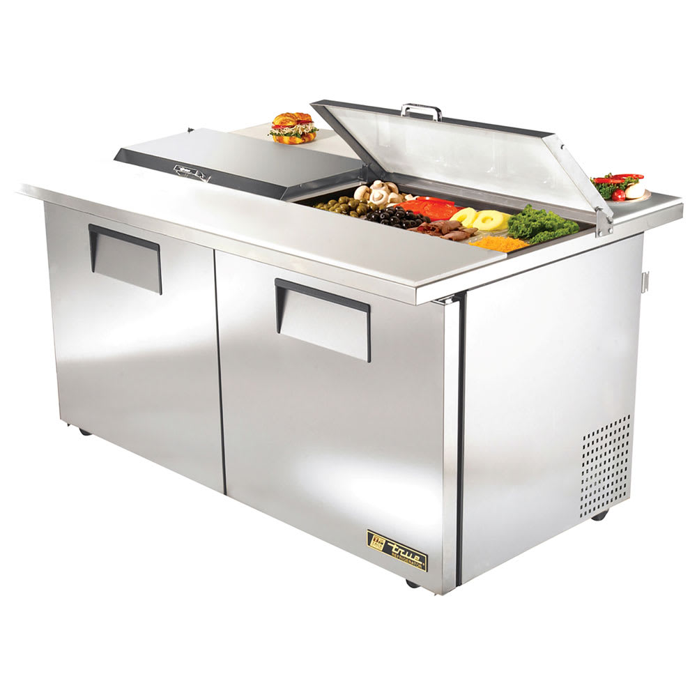 "True TSSU-60-16-DS-ST-ADA-HC 60"" Sandwich/Salad Prep Table w/ Refrigerated Base, 115v"