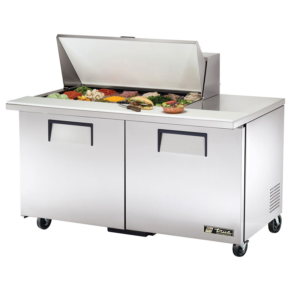 "True TSSU-60-18M-B-HC 60"" Sandwich/Salad Prep Table w/ Refrigerated Base, 115v"