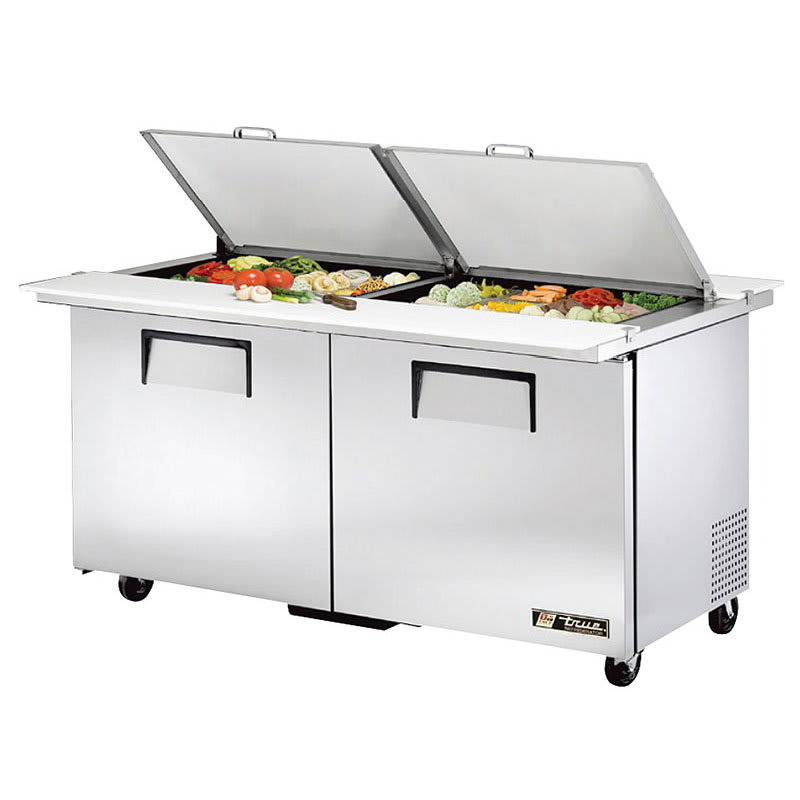 "True TSSU-60-24M-B-DS-ST-HC 60"" Sandwich/Salad Prep Table w/ Refrigerated Base, 115v"
