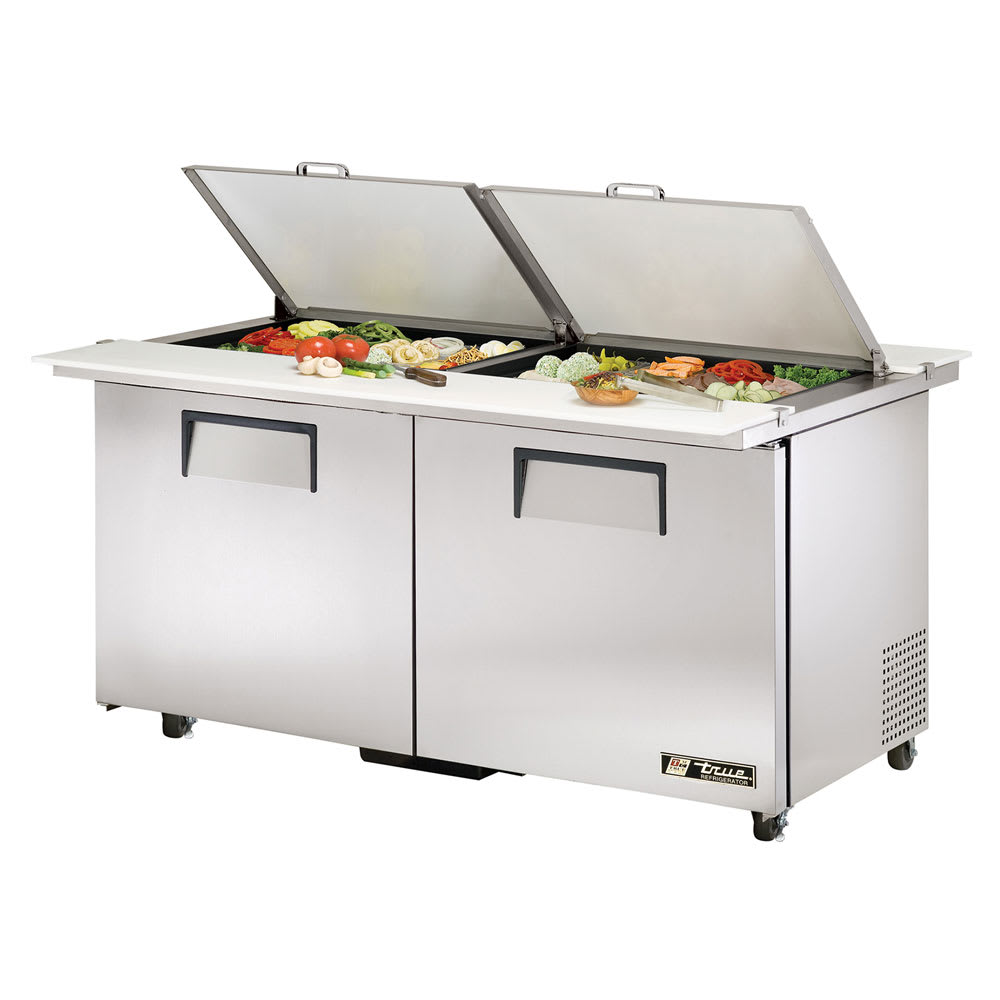 "True TSSU-60-24M-B-DS-ST-ADA-HC 60"" Sandwich/Salad Prep Table w/ Refrigerated Base, 115v"