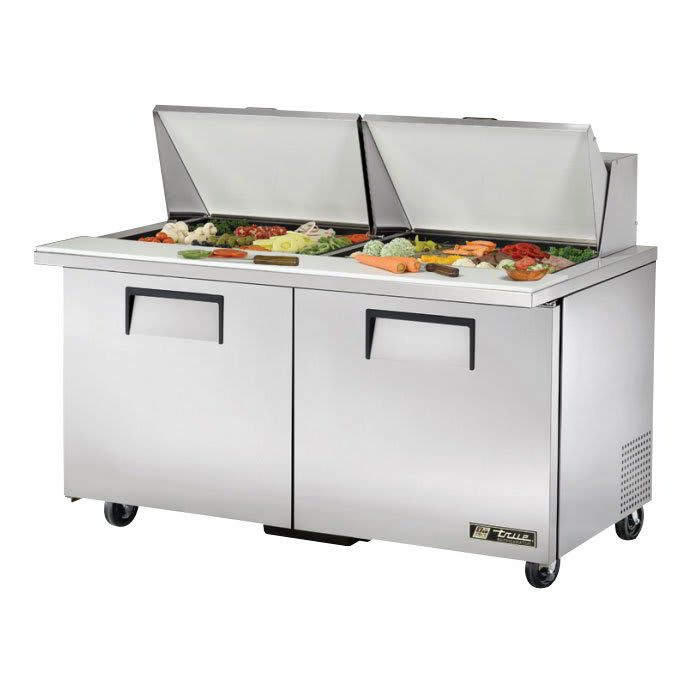 "True TSSU-60-24M-B-ST 60"" Mega Top Sandwich/Salad Prep Table w/ Refrigerated Base, 115V"