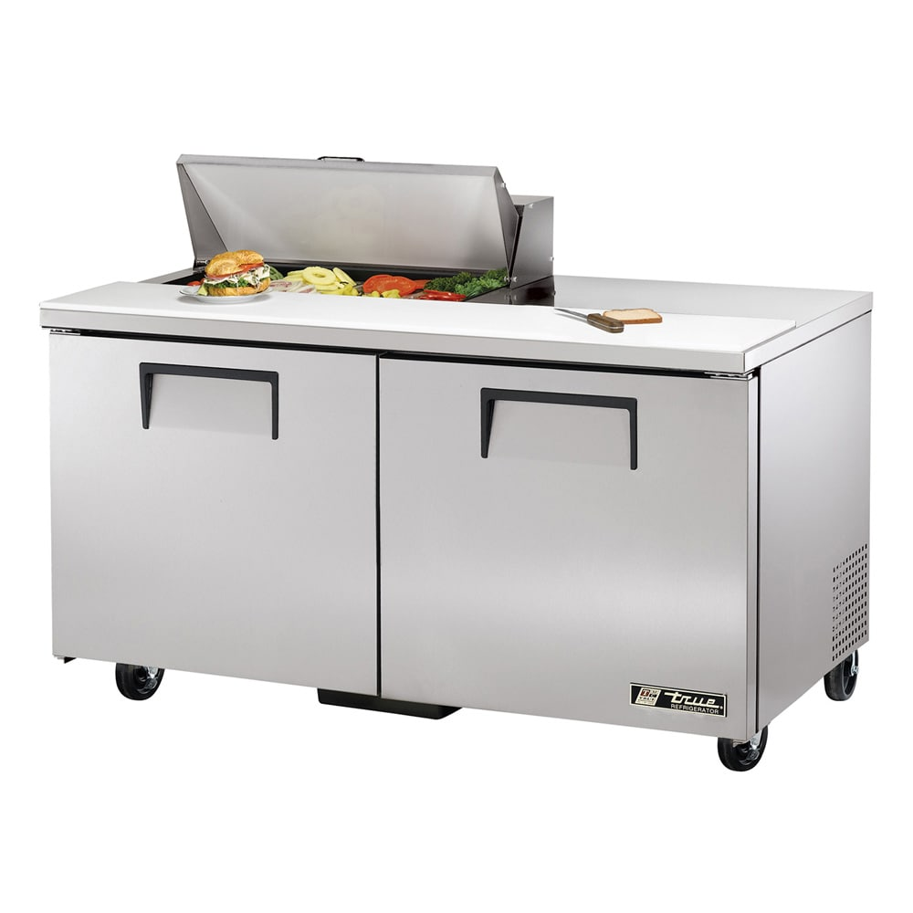 "True TSSU-60-08-HC 60"" Sandwich/Salad Prep Table w/ Refrigerated Base, 115v"