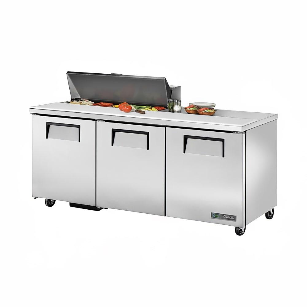 """True TSSU-72-10-HC 72"""" Sandwich/Salad Prep Table w/ Refrigerated Base, 115v"""