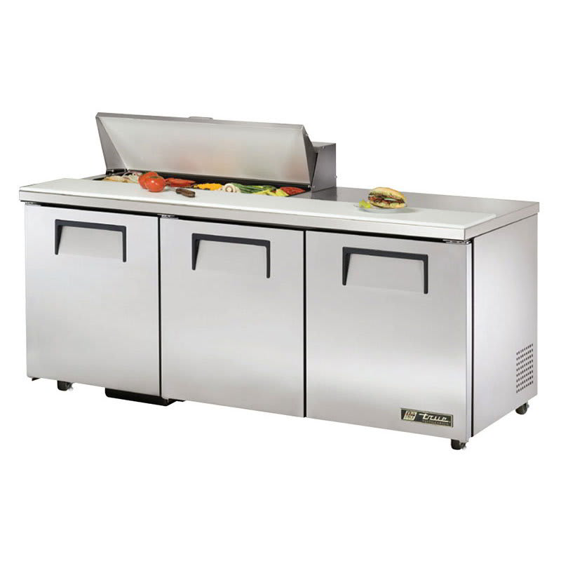 "True TSSU-72-10-ADA-HC 72"" Sandwich/Salad Prep Table w/ Refrigerated Base, 115v"