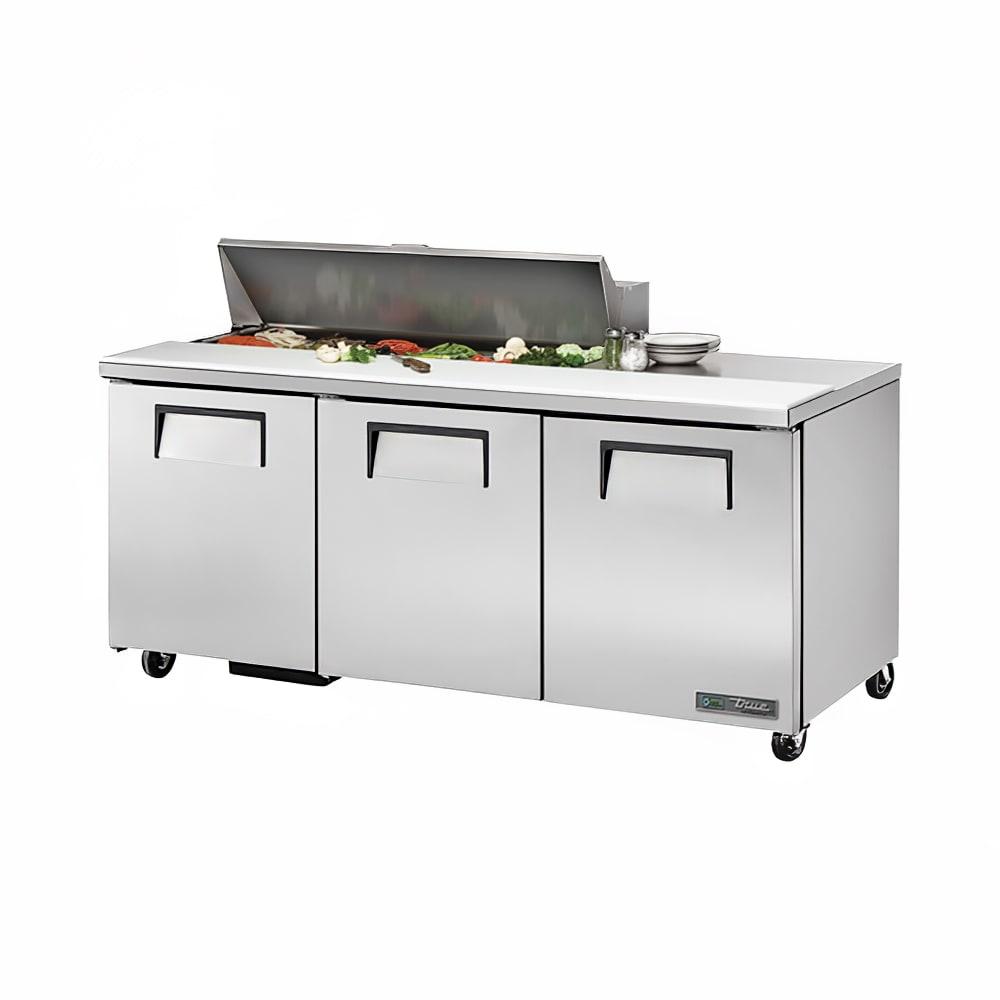 """True TSSU-72-12-HC 72"""" Sandwich/Salad Prep Table w/ Refrigerated Base, 115v"""
