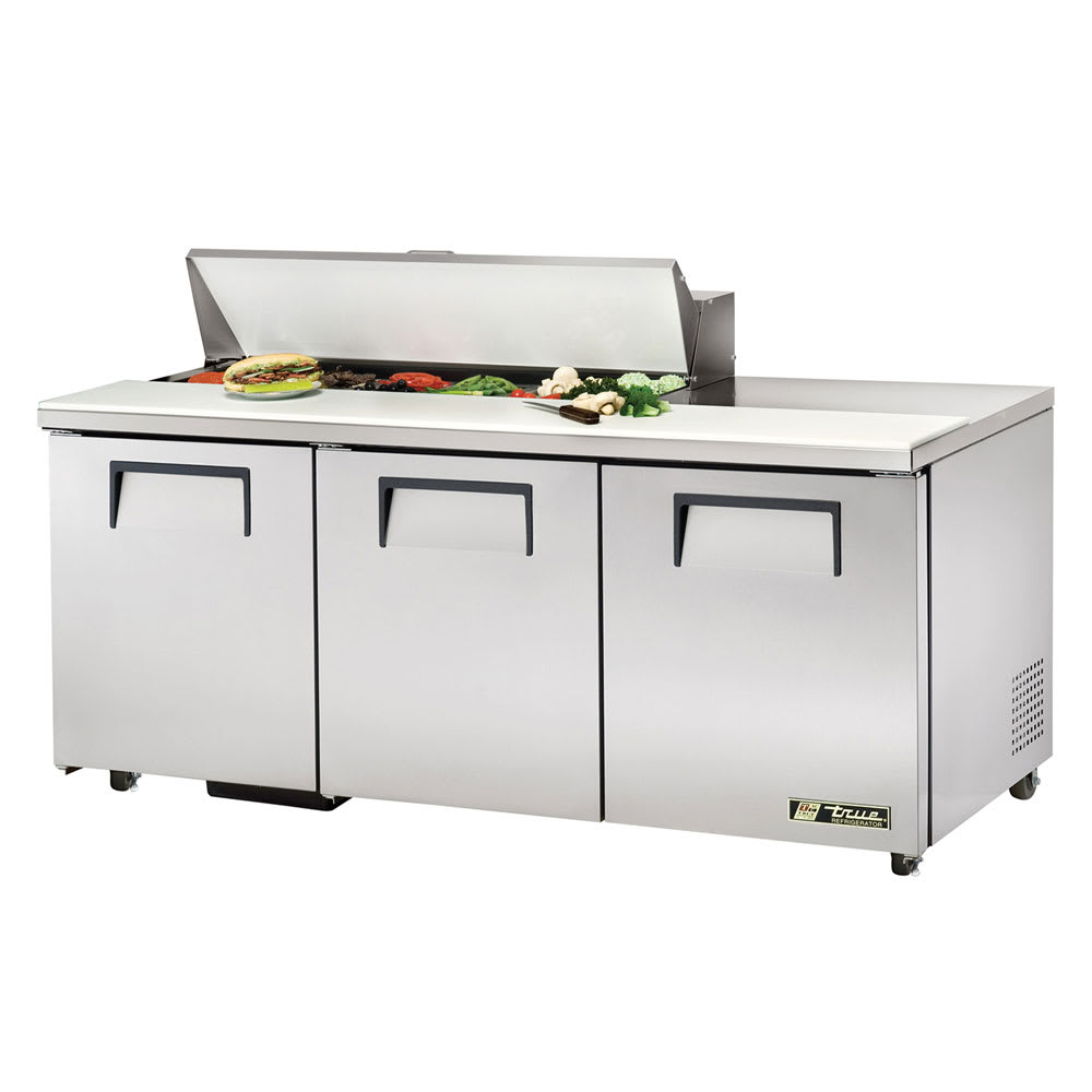 "True TSSU-72-12-ADA-HC 72"" Sandwich/Salad Prep Table w/ Refrigerated Base, 115v"