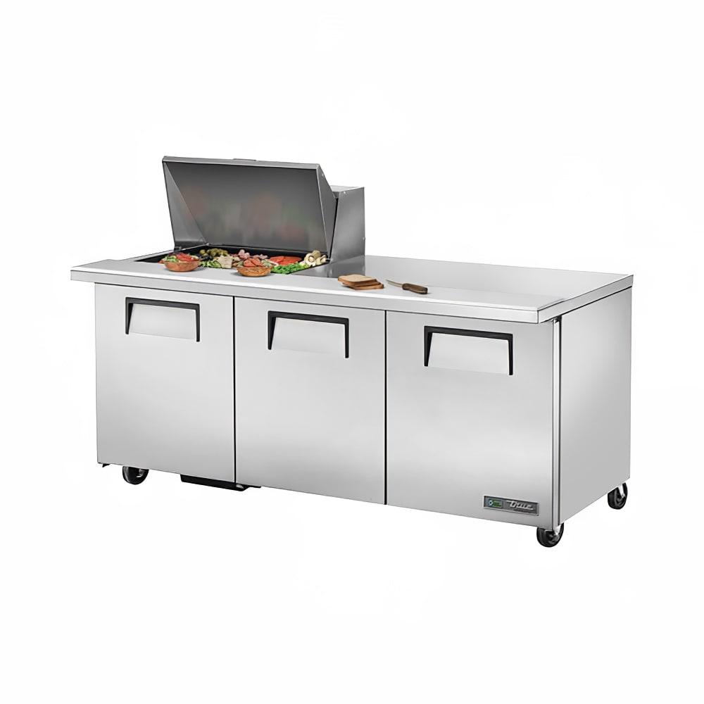 """True TSSU-72-12M-B-HC 72"""" Sandwich/Salad Prep Table w/ Refrigerated Base, 115v"""