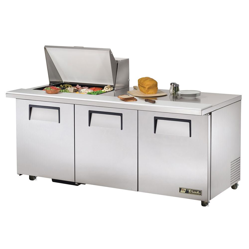 """True TSSU-72-12M-B-ADA-HC 72"""" Sandwich/Salad Prep Table w/ Refrigerated Base, 115v"""