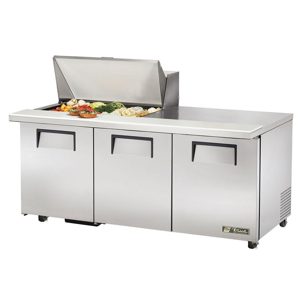 """True TSSU-72-15M-B-HC 72"""" Sandwich/Salad Prep Table w/ Refrigerated Base, 115v"""