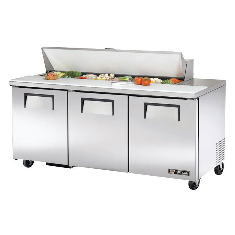 "True TSSU-72-16-HC 72"" Sandwich/Salad Prep Table w/ Refrigerated Base, 115v"