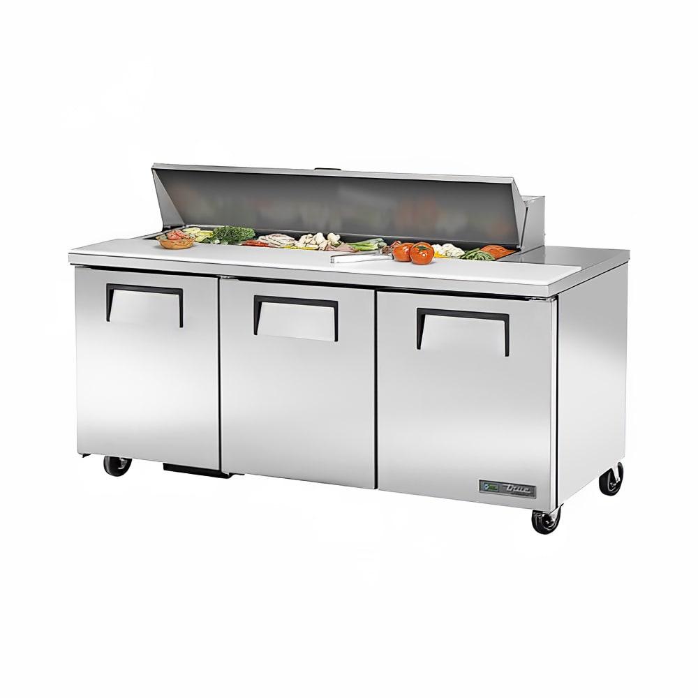 """True TSSU-72-16-HC 72"""" Sandwich/Salad Prep Table w/ Refrigerated Base, 115v"""