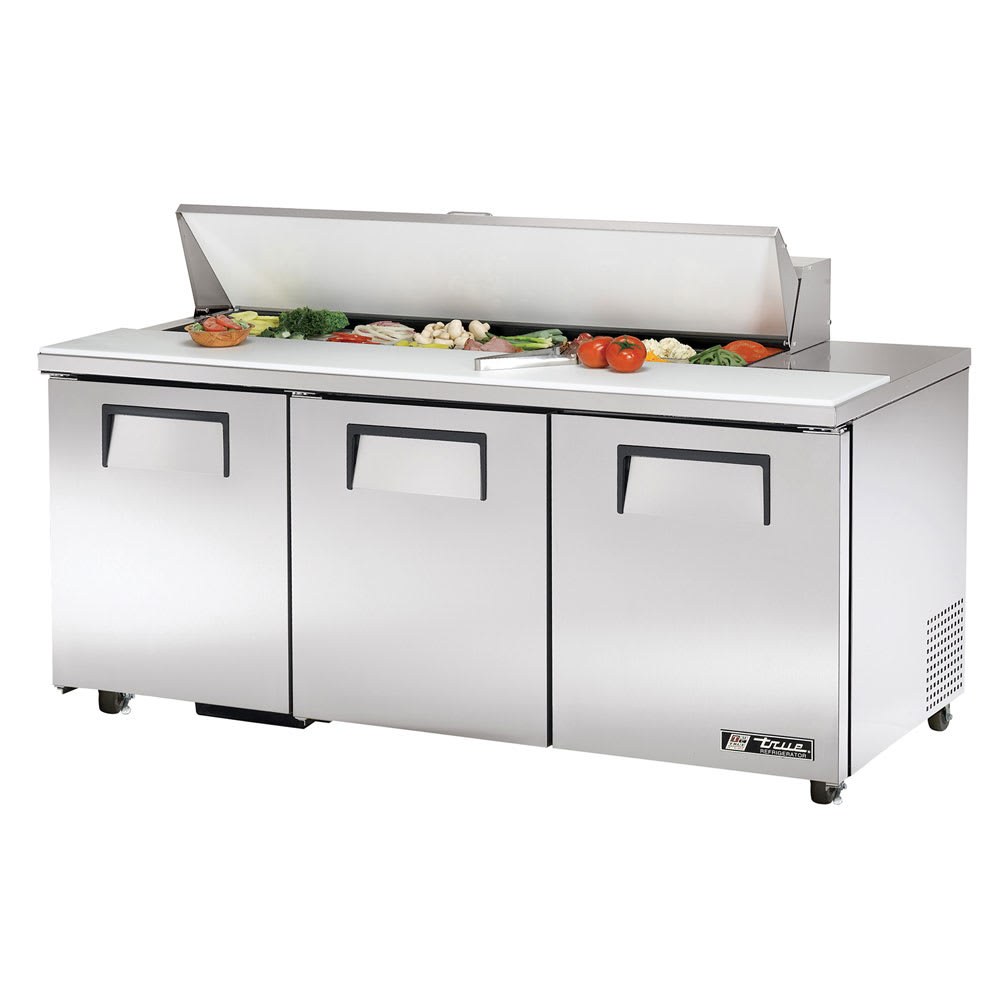 "True TSSU-72-16-ADA-HC 72"" Sandwich/Salad Prep Table w/ Refrigerated Base, 115v"