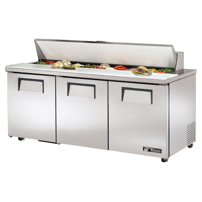 "True TSSU-72-18-ADA-HC 72.38"" Sandwich/Salad Prep Table w/ Refrigerated Base, 115v"