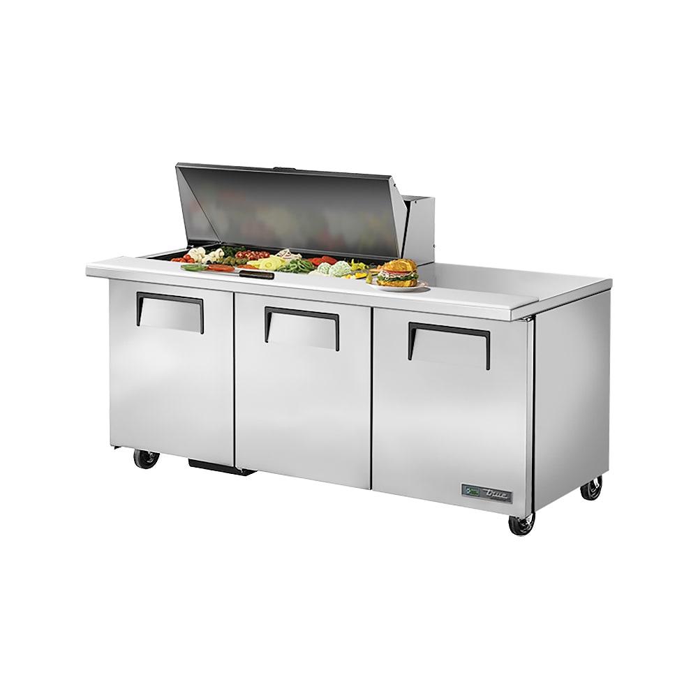 """True TSSU-72-18M-B-HC 72"""" Sandwich/Salad Prep Table w/ Refrigerated Base, 115v"""