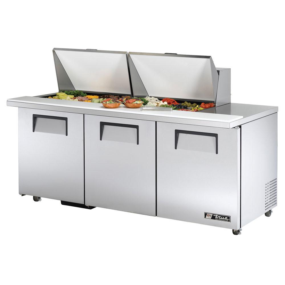 """True TSSU-72-24M-B-ST-ADA-HC 72"""" Sandwich/Salad Prep Table w/ Refrigerated Base, 115v"""