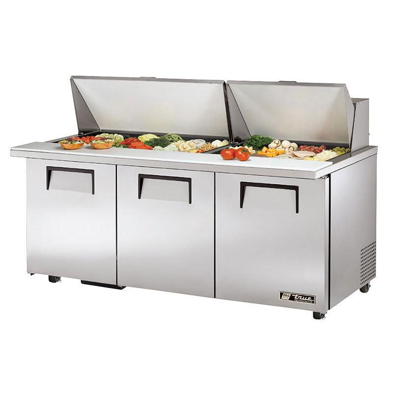 "True TSSU-72-30M-B-ST-ADA-HC 72"" Mega Top Sandwich/Salad Prep Table w/ Refrigerated Base, 115V"