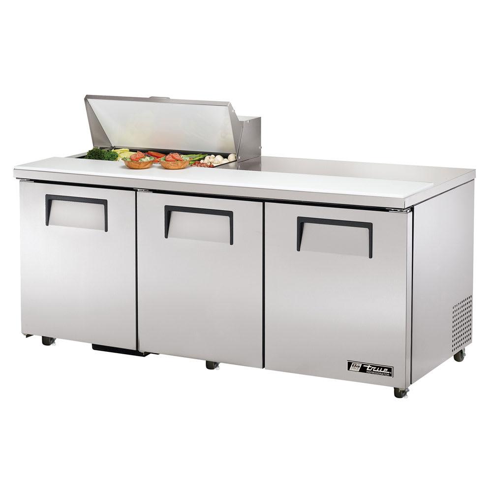"""True TSSU-72-08-HC 72"""" Sandwich/Salad Prep Table w/ Refrigerated Base, 115v"""
