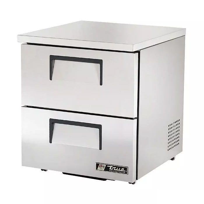 True TUC-27D-2-LP-HC 6.5 cu ft Undercounter Refrigerator w/ (1) Section & (2) Drawers, 115v