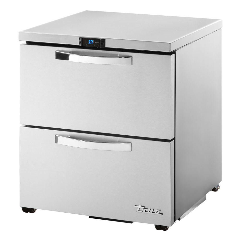 True TUC-27D-2-LP-HC~SPEC1 6.5 cu ft Undercounter Refrigerator w/ (1) Section & (2) Drawers, 115v