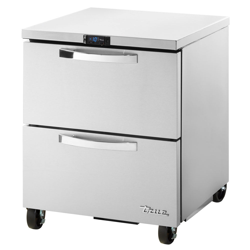 True TUC-27F-D-2-HC~SPEC1 6.5 cu ft Undercounter Freezer w/ (1) Section & (2) Drawers, 115v