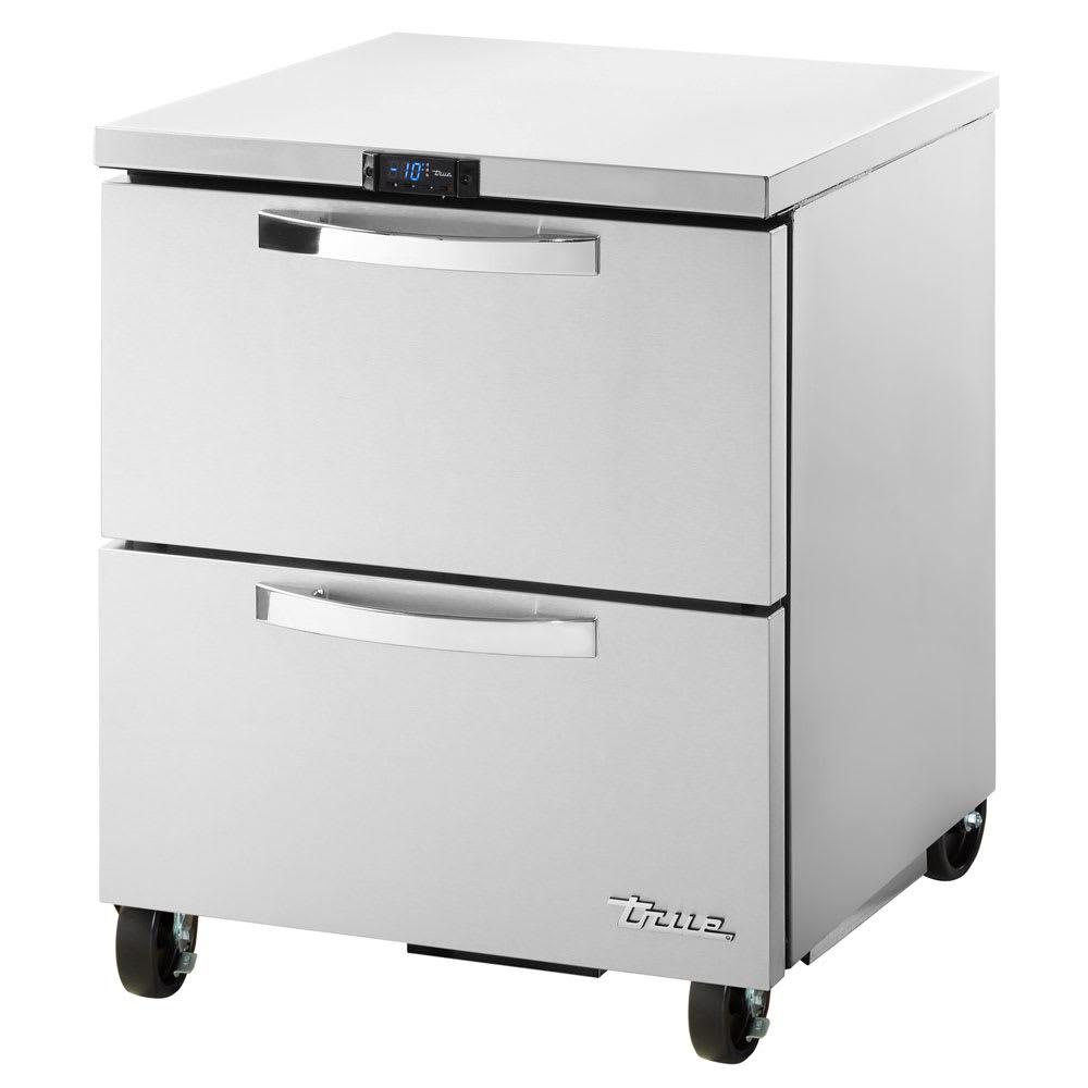 True TUC-27F-D-2-HC~SPEC1 6.5-cu ft Undercounter Freezer w/ (1) Section & (2) Drawers, 115v