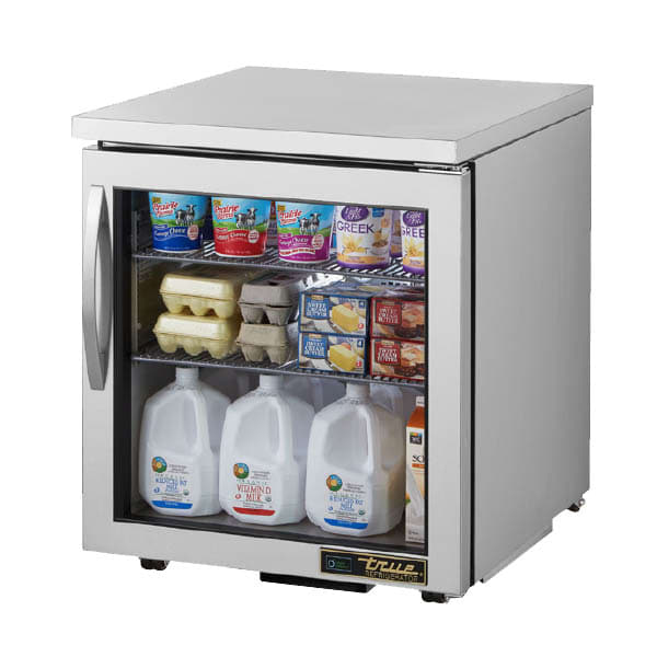 True TUC-27G-LP-HC~FGD01 6.5 cu ft Undercounter Refrigerator w/ (1) Section & (1) Door, 115v