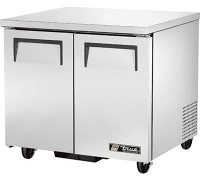 True TUC-36-LP 220 Front Breathing Undercounter Refrigerator w/ 4-Shelves & 2-Doors, 115V