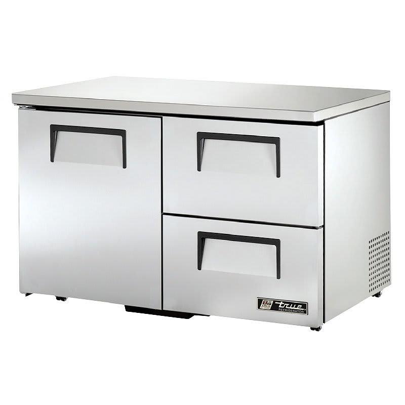 True TUC-48D-2-LP-HC 12-cu ft Undercounter Refrigerator w/ (2) Sections, (2) Drawers & (1) Door, 115v