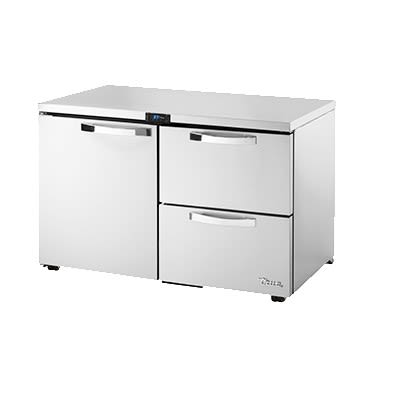 True TUC-48D-2-LP-HC~SPEC1 12-cu ft Undercounter Refrigerator w/ (2) Sections, (1) Door & (2) Drawers, 115v