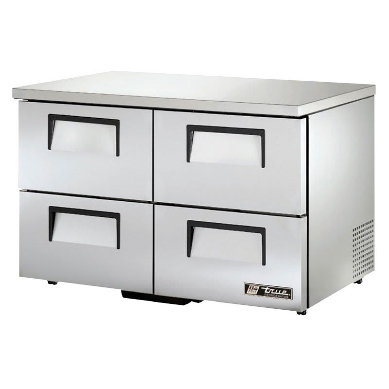 True TUC-48D-4-LP-HC 12-cu ft Undercounter Refrigerator w/ (2) Sections & (4) Drawers, 115v