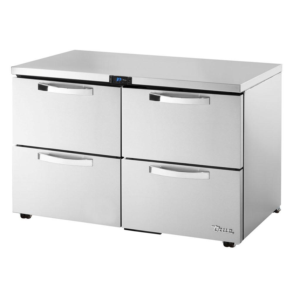 True TUC-48D-4-LP-HC~SPEC1 12-cu ft Undercounter Refrigerator w/ (2) Sections & (4) Drawers, 115v