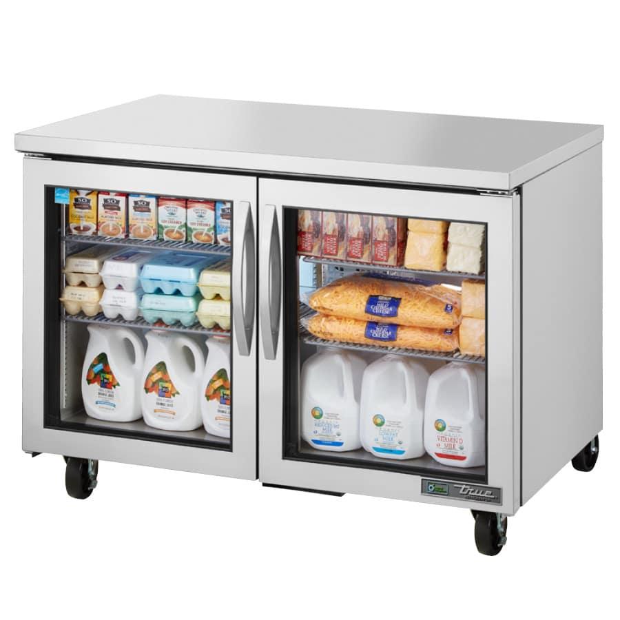 True TUC-48G-HC~FGD01 12 cu ft Undercounter Refrigerator w/ (2) Sections & (2) Doors, 115v