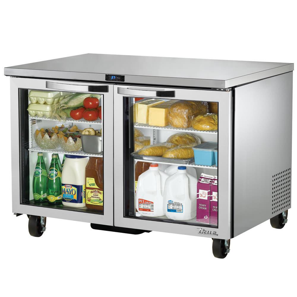 True TUC-48G-HC~SPEC1 12-cu ft Undercounter Refrigerator w/ (2) Sections & (2) Doors, 115v