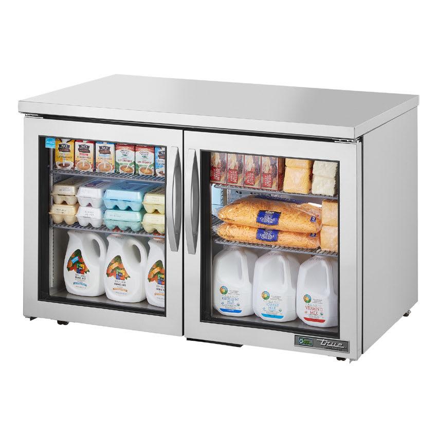 True TUC-48G-LP-HC~FGD01 12 cu ft Undercounter Refrigerator w/ (2) Sections & (2) Doors, 115v