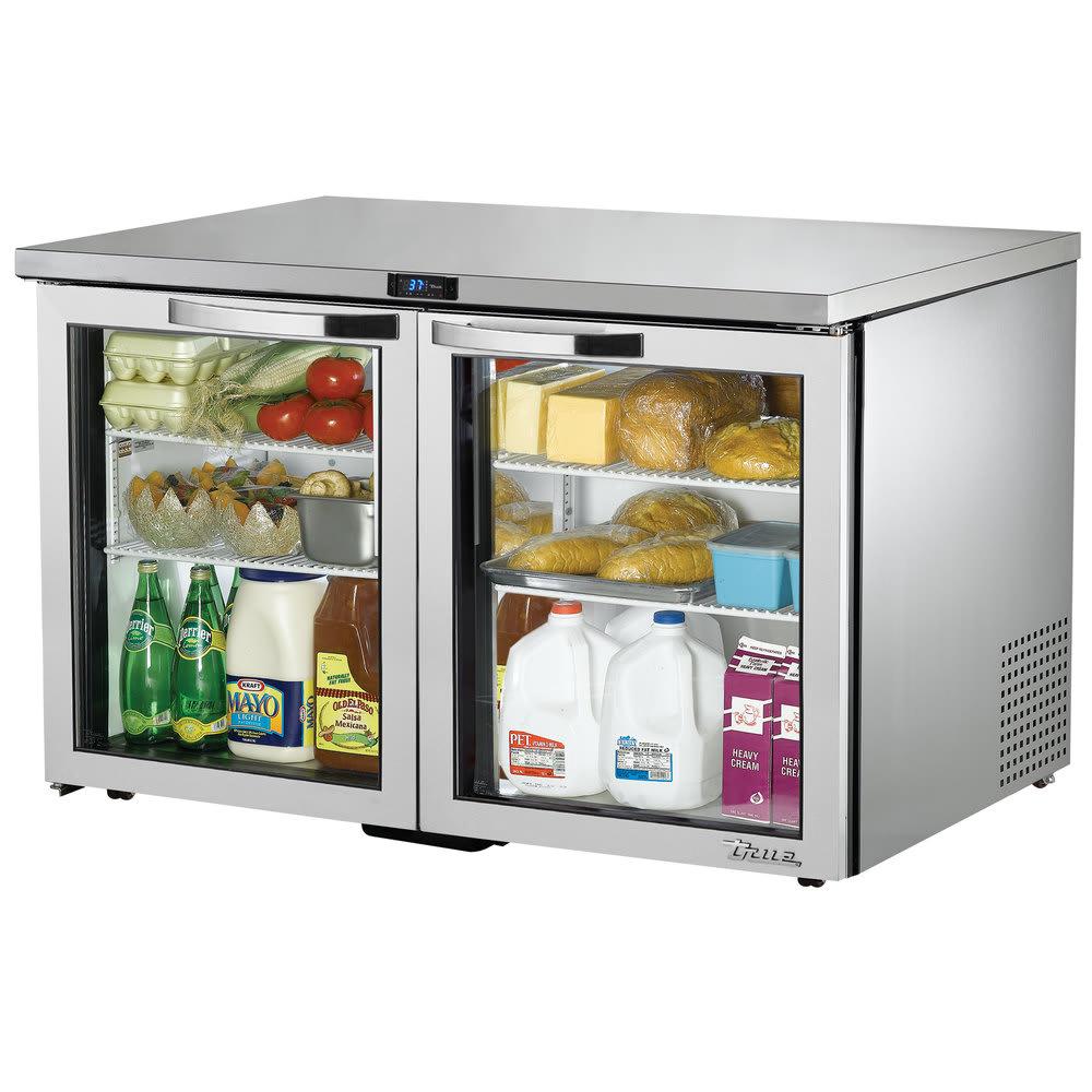 True TUC-48G-LP-HC~SPEC1 12 cu ft Undercounter Refrigerator w/ (2) Sections & (2) Doors, 115v