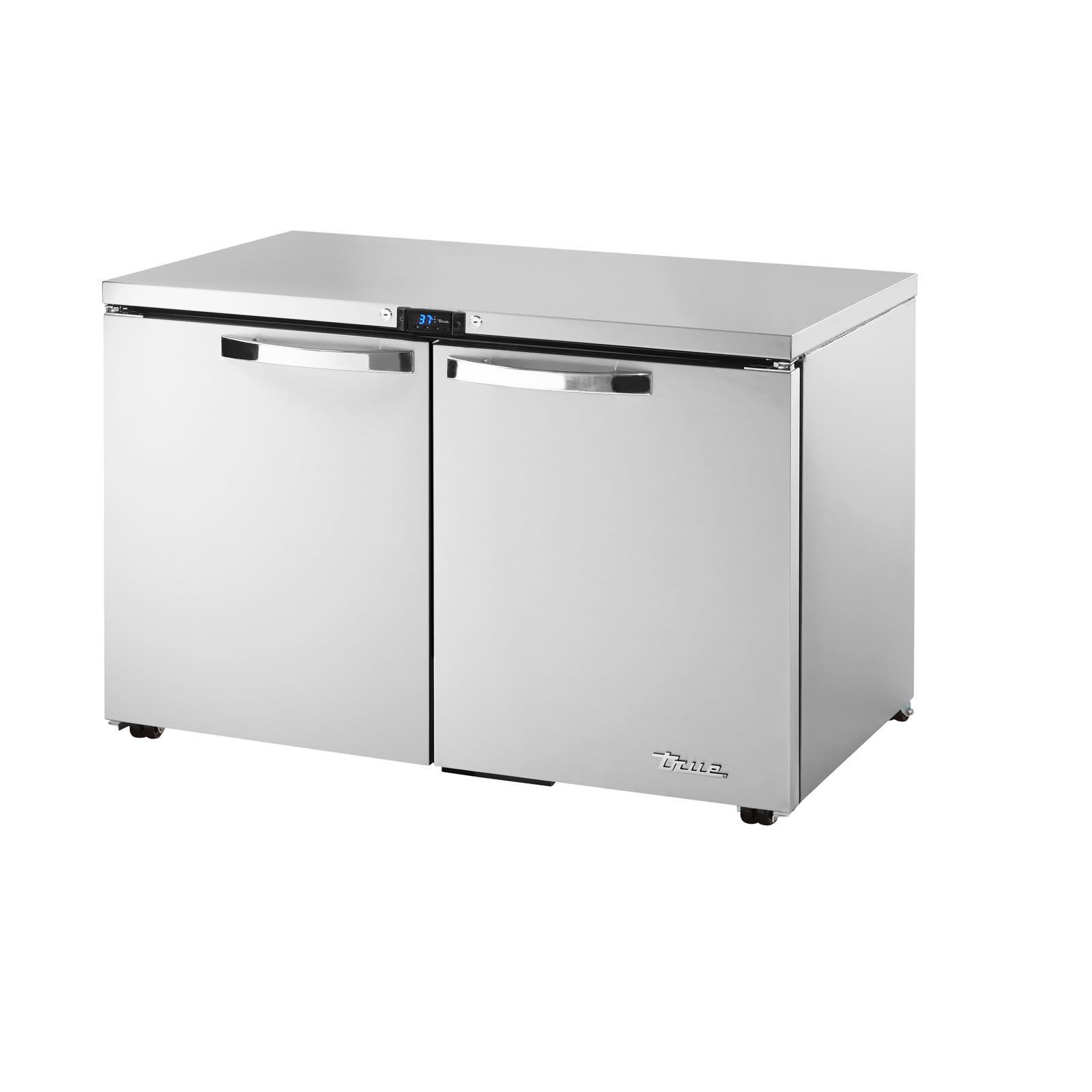 True TUC-48-LP-HC~SPEC1 12-cu ft Undercounter Refrigerator w/ (2) Sections & (2) Doors, 115v