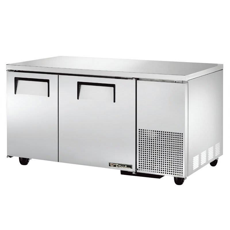 True TUC-60-32 15.5 cu ft Undercounter Refrigerator w/ (2) Sections & (2) Doors, 115v