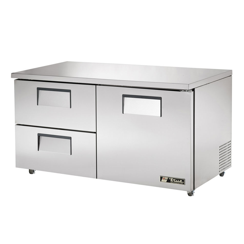 True TUC-60D-2-ADA-HC 15.5-cu ft Undercounter Refrigerator w/ (2) Sections, (1) Door & (2) Drawers, 115v
