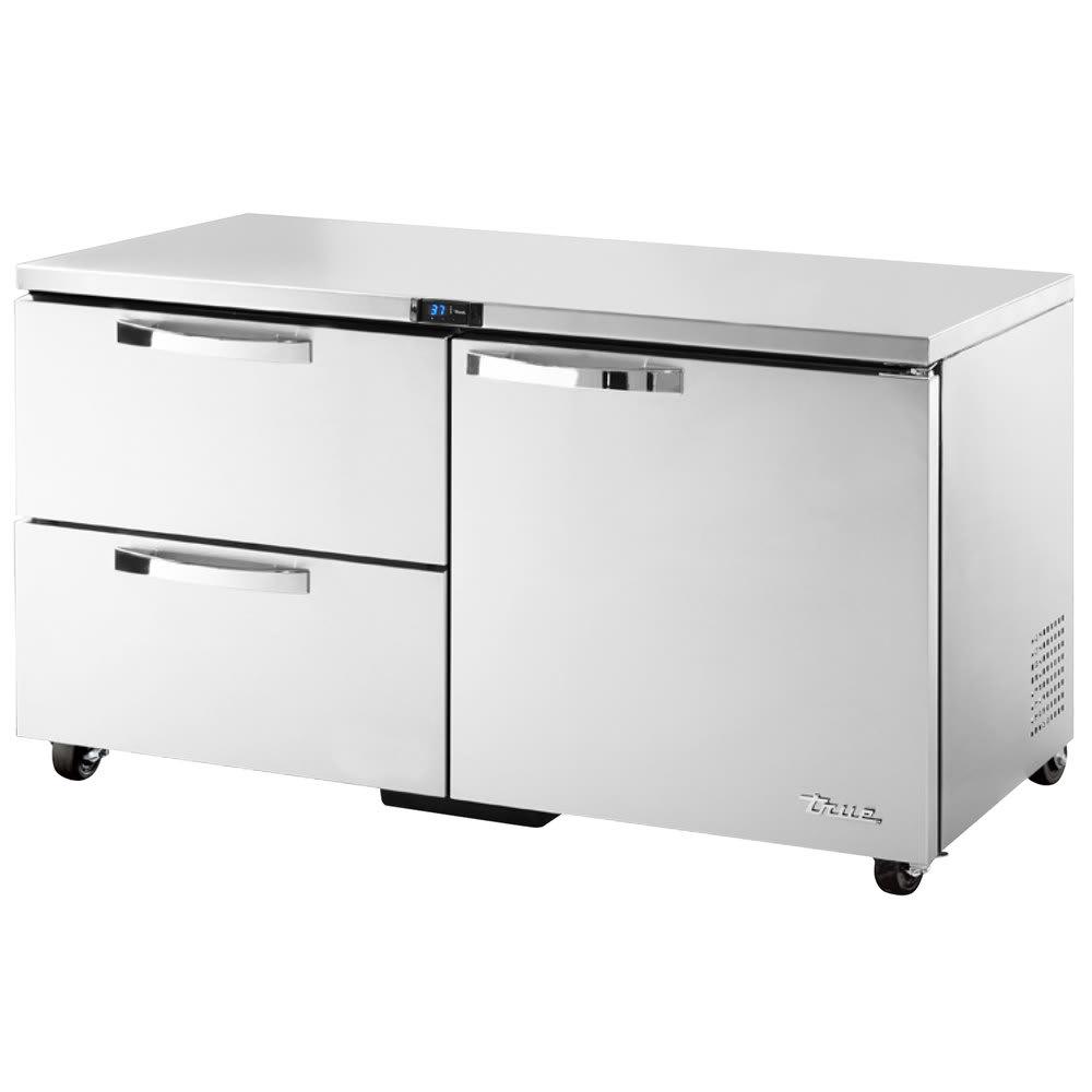 True TUC-60D-2-ADA-HC~SPEC1 15.5-cu ft Undercounter Refrigerator w/ (2) Sections, (1) Door & (2) Drawers, 115v
