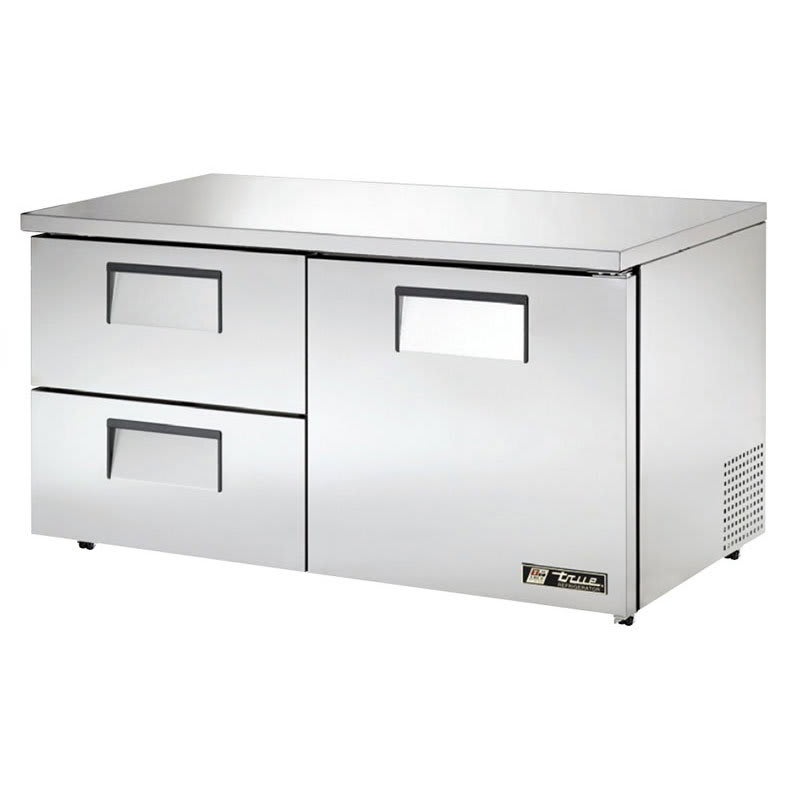 True TUC-60D-2-LP-HC 15.5 cu ft Undercounter Refrigerator w/ (2) Sections, (2) Drawers & (1) Door, 115v