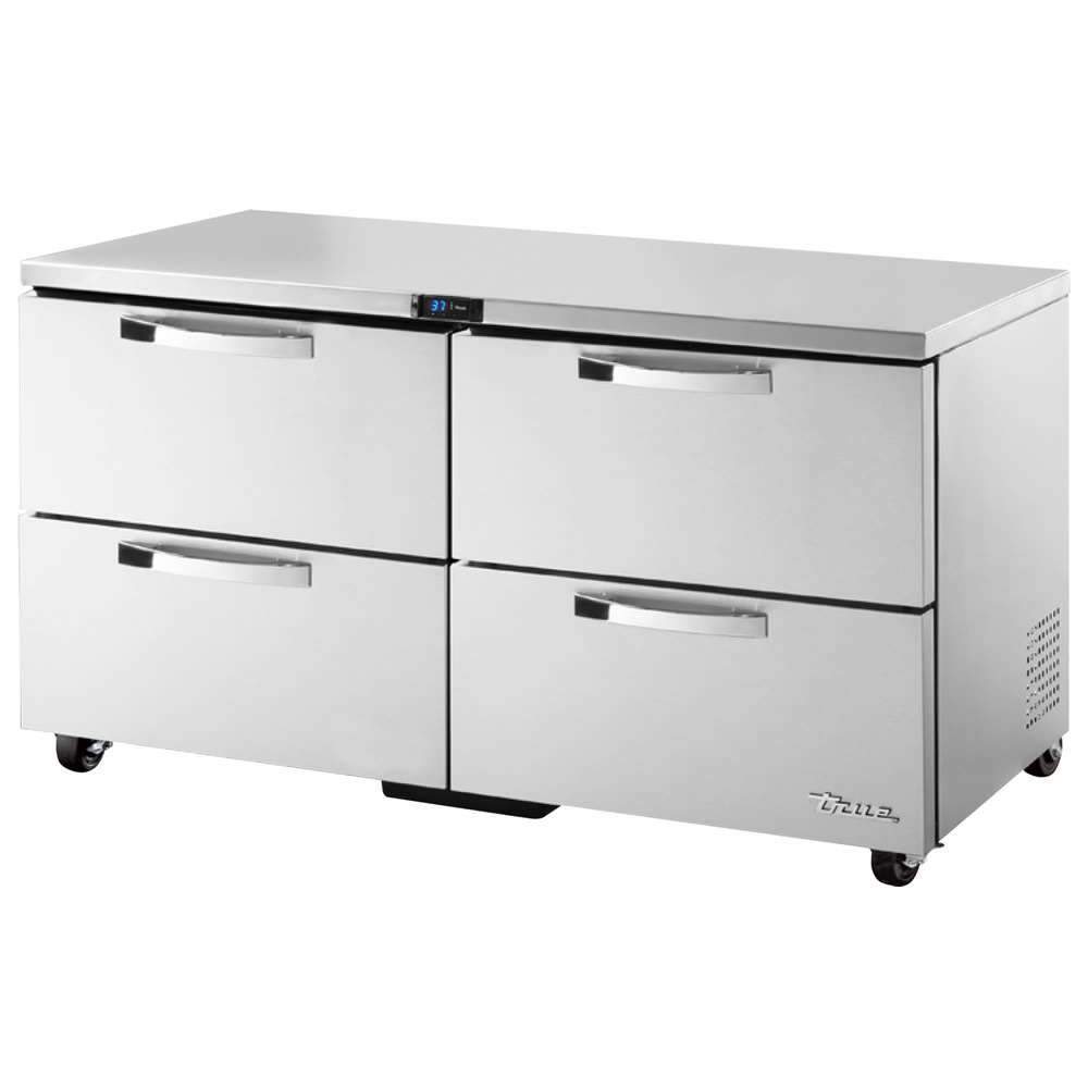 True TUC-60D-4-ADA-HC~SPEC1 15.5 cu ft Undercounter Refrigerator w/ (2) Sections & (4) Drawers, 115v