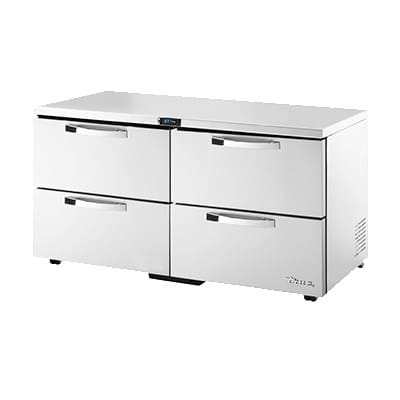 True TUC-60D-4-LP-HC~SPEC1 15.5-cu ft Undercounter Refrigerator w/ (2) Sections & (4) Drawers, 115v