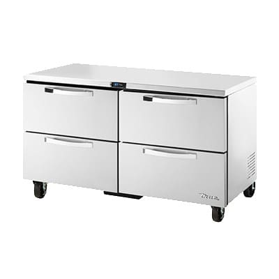 True TUC-60D-4-HC~SPEC1 15.5-cu ft Undercounter Refrigerator w/ (2) Sections & (4) Drawers, 115v
