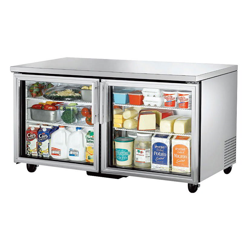 True TUC-60G-HC~FGD01 15-cu ft Undercounter Refrigerator w/ (2) Sections & (2) Doors, 115v