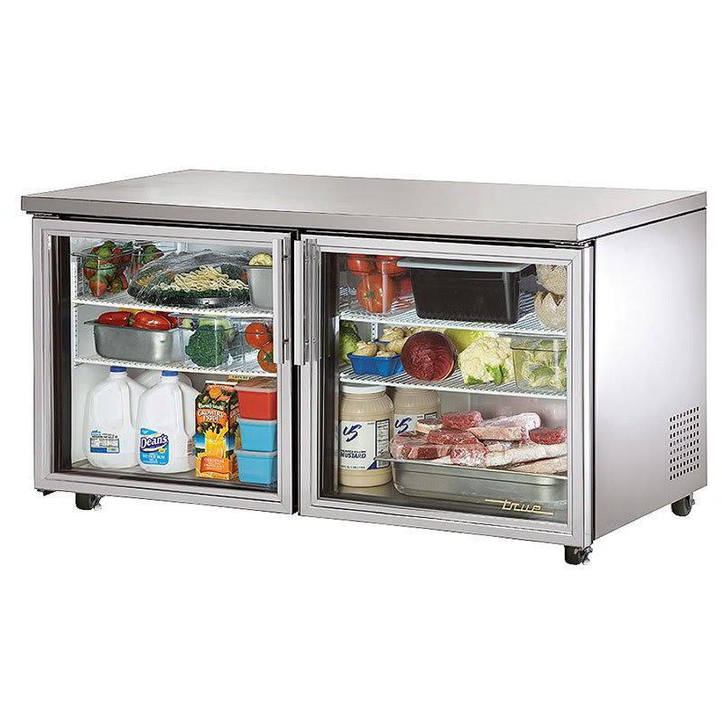 True TUC-60G-ADA-HC~FGD01 15 cu ft Undercounter Refrigerator w/ (2) Sections & (2) Doors, 115v