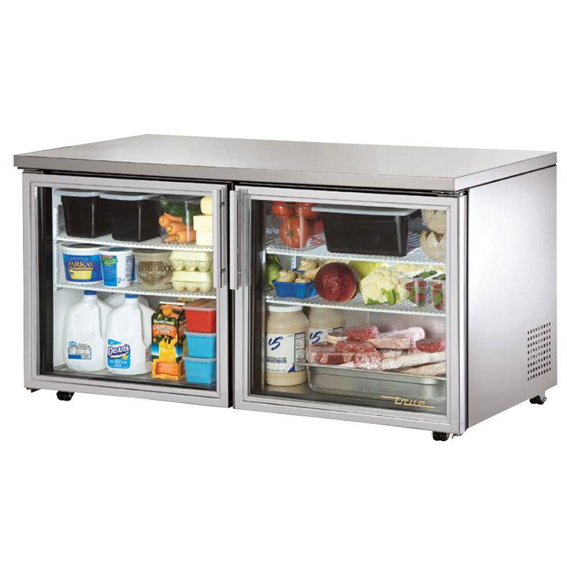 True TUC-60G-LP-HC~FGD01 15.5 cu ft Undercounter Refrigerator w/ (2) Sections & (2) Doors, 115v