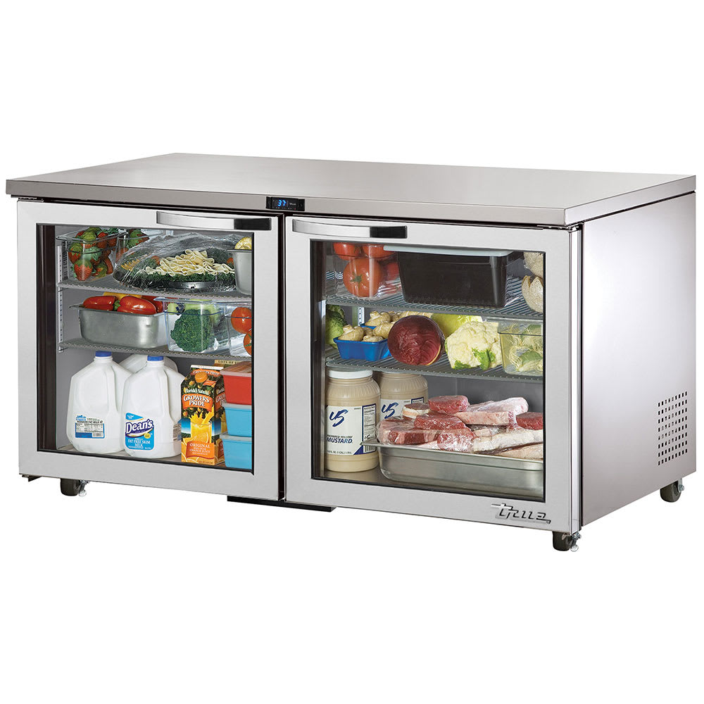 True TUC-60G-HC~SPEC1 15.5 cu ft Undercounter Refrigerator w/ (2) Sections & (2) Doors, 115v
