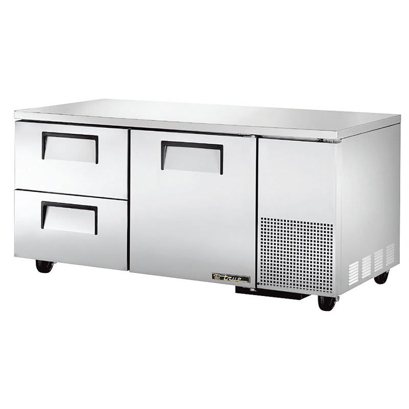 True TUC-67D-2 20.6-cu ft Undercounter Refrigerator w/ (2) Sections, (2) Drawers & (1) Door, 115v