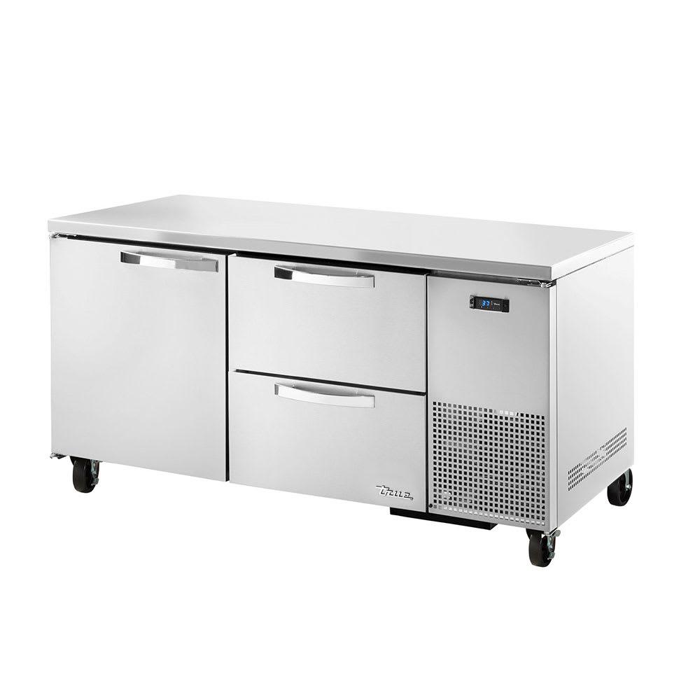True TUC-67D-2~SPEC1 20.6-cu ft Undercounter Refrigerator w/ (2) Sections, (1) Door & (2) Drawers, 115v