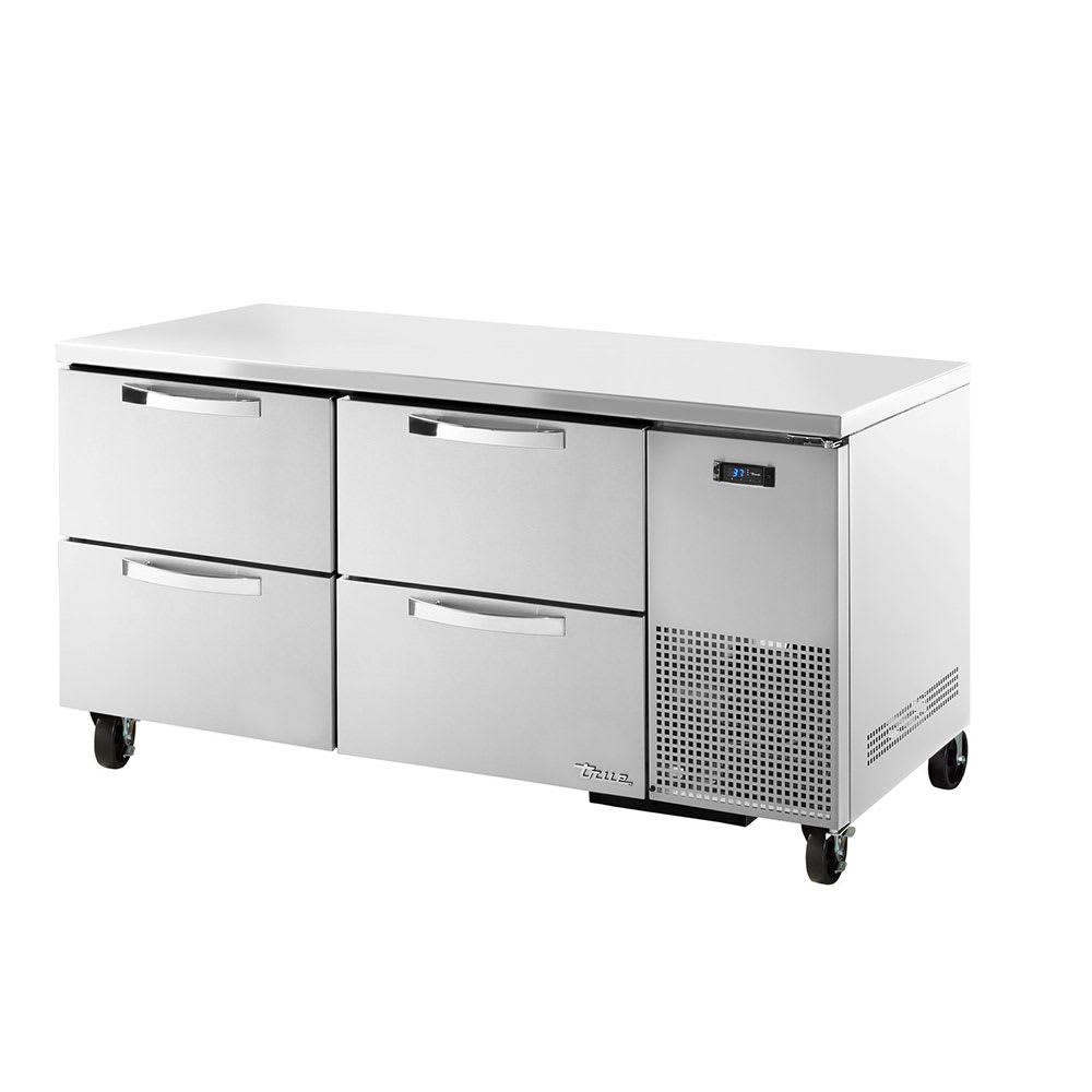 True TUC-67D-4~SPEC1 20.6-cu ft Undercounter Refrigerator w/ (2) Sections & (4) Drawers, 115v